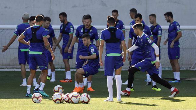 Entrenamiento de pretemporada del Betis (foto: Raúl Doblado)