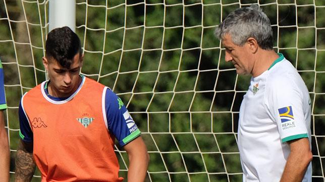 Sergio León y Quique Setién, en Montecastillo (foto: Paco Martín)