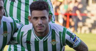 Sanabria, durante el amistoso ante el Sporting de Braga (foto: Alberto Díaz)