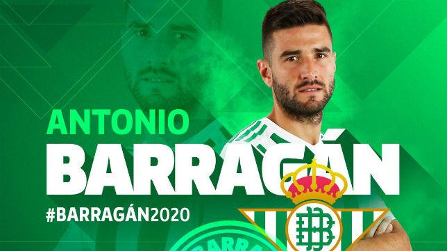 El Betis ha hecho oficial la continuidad de Barragán hasta junio de 2020