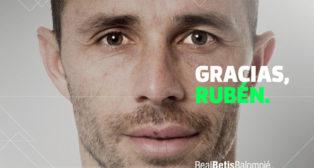 Imagen de despedida del Betis a Rubén Castro (foto: RBB)