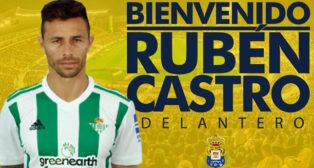 Mensaje de bienvenida de Las Palmas a Rubén Castro (foto: @UDLP_Oficial)