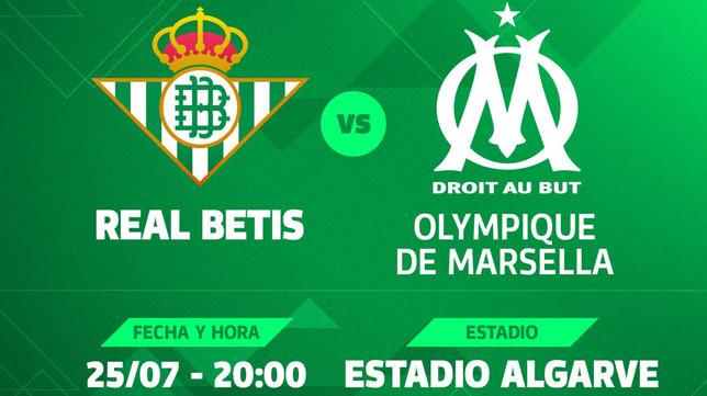 El Betis-Marsella se jugará el 25 de julio en Faro (foto: RBB)