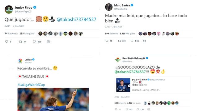Junior, Bargra, LaLiga y el Real Betis elogiaron a Inui durante su gran partido ante Bélgica en el Mundial