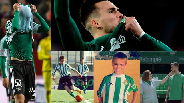 Fabián, en sus lágrimas tras un derbi, en el primer gol del 3-5 en Nervión, en categorías inferiores y con su madre, exempleada del club
