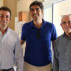Haro, López Catalán y Serra Ferrer, en su visita a Montecastillo (Foto: RBB)