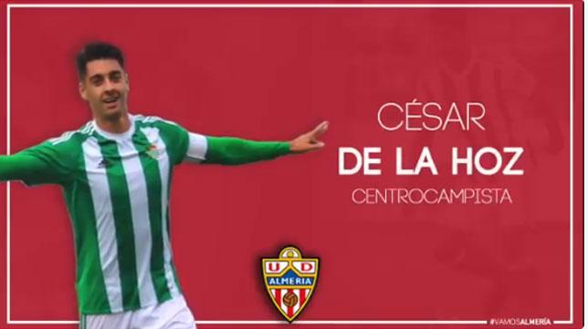 El Almería ha hecho oficial la incorporación de César de la Hoz