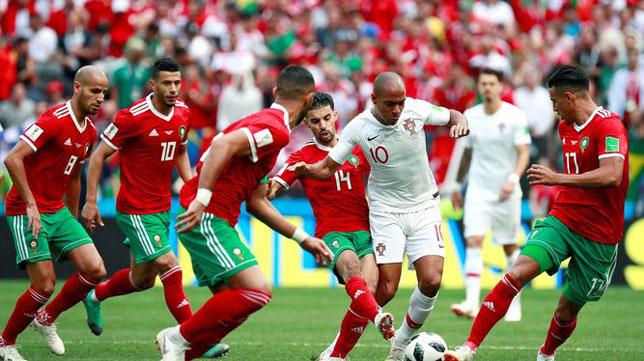 Joao Mario, durante el Marruecos-Portugal del Mundial de Rusia (foto: EFE)
