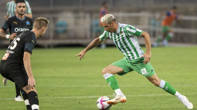 Joaquín, durante el amistoso jugado ante el Olympique de Marsella (Foto: Alberto Díaz )