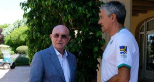 Lorenzo Serra Ferrer y Quique Setién, en la concentración del Betis en Montecastillo (Paco Martín)