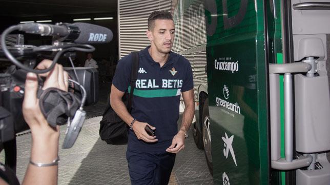 Feddal, en la salida del parking del estadio Benito Villamarín (foto: Vanessa Gómez)