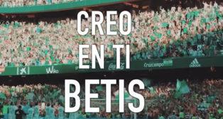 El vídeo de apoyo de la grada de animación del Betis
