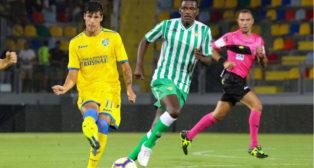 William Carvalho, en el Frosinone-Betis (foto: @Frosinone1928)