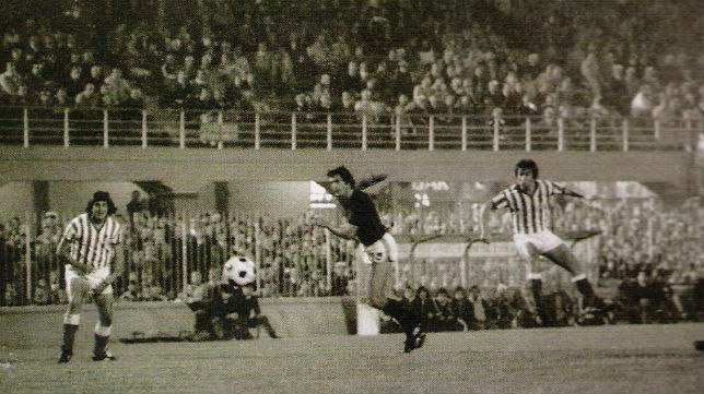 Imagen del Milan-Betis de la Recopa de la temporada 1977-78