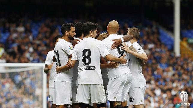 Montoya, en el Everton-Valencia (VCF)