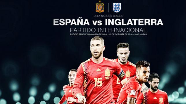 Cartel para el España-Inglaterra del Benito Villamarín (RFEF)