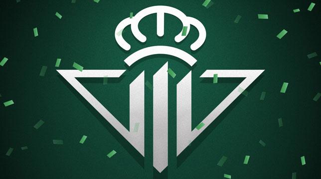 Imagen del escudo del Betis retocada con el número 111 en el centro (Foto: RBB)