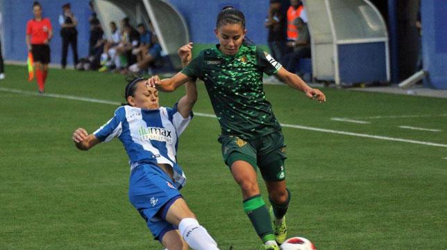 Paula Perea, en un lance del partido ante el Espanyol (foto: RBB)