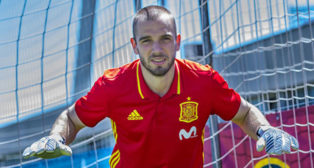 Pau López, en la selección española