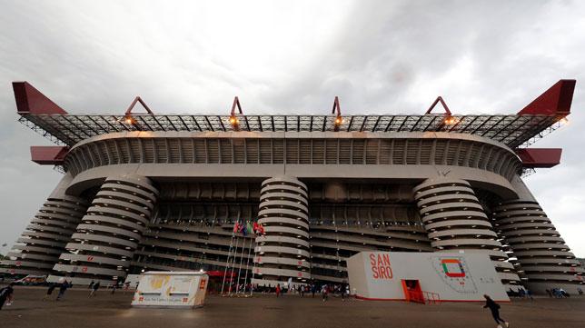 El estadio del Milan, San Siro