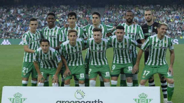 Once del Betis ante el Athletic. Foto: LaLiga