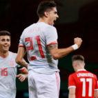 Bartra celebra su gol a Gales con la selección española (REUTERS)