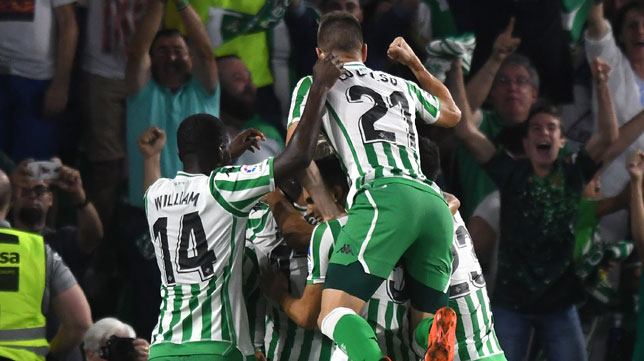 William Carvalho, Lo Celso, en el Betis-Leganés (Juan José Úbeda)