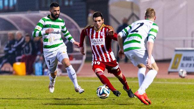 Carlos Andújar, durante un partido con el Fola Esch en la liga de Luxemburgo