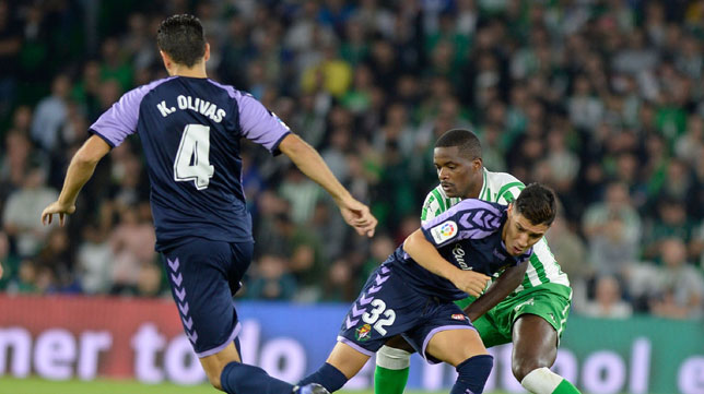 William Carvalho, en el Betis-Valladolid (AFP)