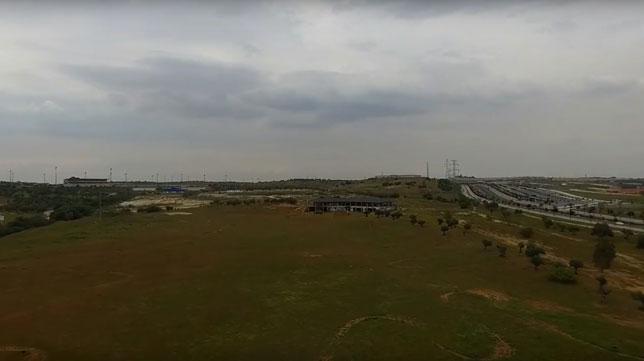 Imagen de los terrenos donde se ubicará la nueva ciudad deportiva, en la zona de Entrenúcleos