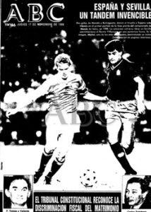 Portada de ABC de Sevilla con el triunfo de España sobre Eire por 2-0 en 1988