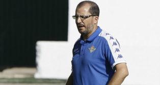 El técnico del Betis Deportivo, José Juan Romero