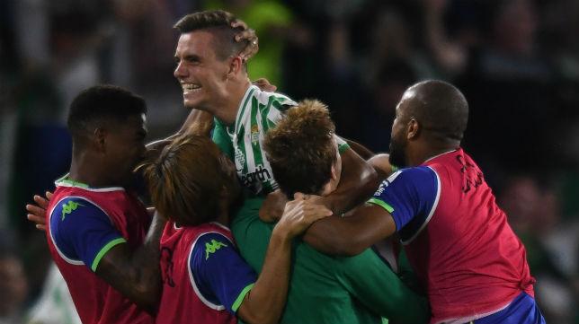 Lo Celso celebra el triunfo logrado ante el Leganés (Foto: J. J. Úbeda)