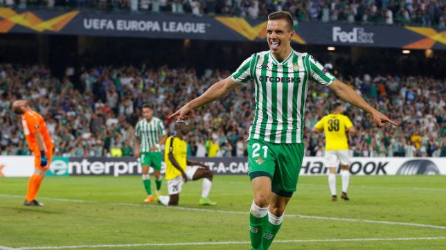 Lo Celso celebra el gol anotado ante el Dudelange (Foto: Reuters)