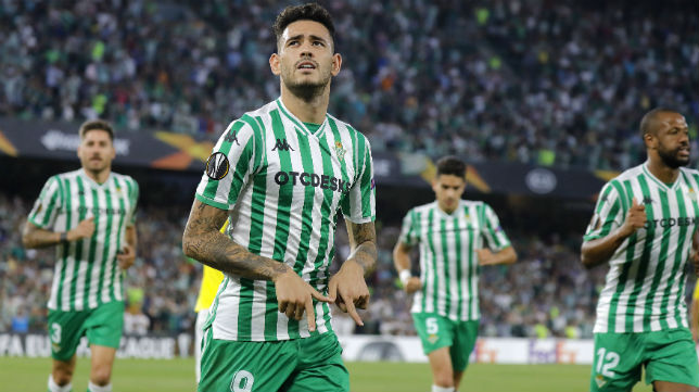 Sanabria celebra el gol anotado ante el Dudelange (Foto: J. M. Serrano)