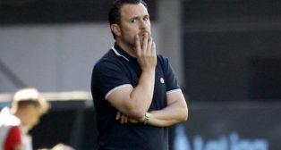 El entrenador del Valladolid, Sergio González, durante el partido jugado ante el Celta (Foto: EFE)