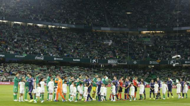 Once del Betis ante el Valladolid. Foto: LaLiga