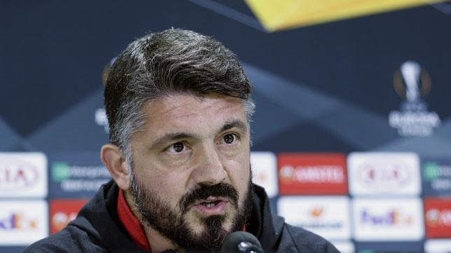 Gennaro Gattuso, entrenador del Milan (Foto: EFE).