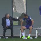 Gordillo charla con Joaquín en la ciudad deportiva Luis del Sol