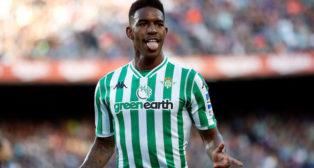 Junior celebra el gol que marcó al Barcelona en el Camp Nou (Foto: EFE)
