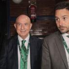 Lorenzo Serra Ferrer y José María Gallego, en la junta de accionistas del Betis (Raúl Doblado)