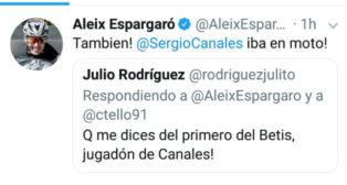 Captura de uno de los tuits escritos por Espargaró