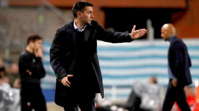 El técnico de la Real Sociedad, Asier Garitano, en el encuentro ante el Celta (Foto: EFE)