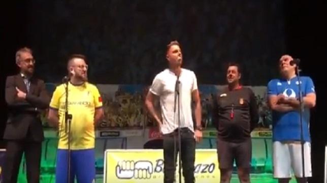 Joaquín, en su intervención en el Teatro Apolo