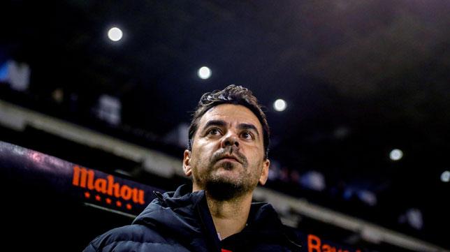 Míchel, técnico del Rayo, quiere mejorar sus números como visitante ante el Betis