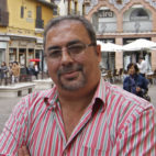 Antonio Roales, en la Plaza del Pan (Foto: Vanessa Gómez).