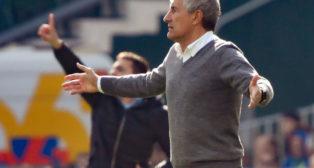 Setién, durante el Betis-Real Sociedad (Foto: EFE)
