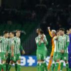 Los jugadores del Betis celebran el pase a las semifinal de la Copa del Rey. Foto: LaLiga