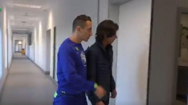 Andrés Guardado y Diego Lainez, en la ciudad deportiva del Betis