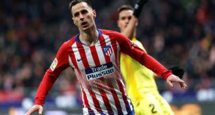 Kalinic, en el Atlético-Villarreal (EFE)